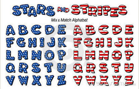 7 Stars And Stripes Font Images