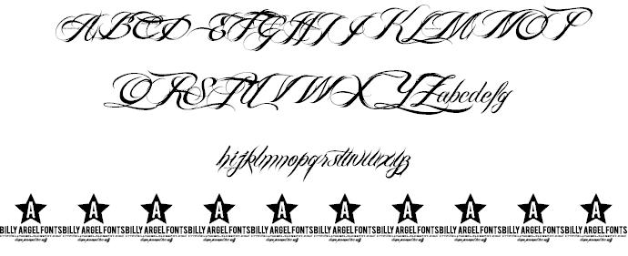8 Billy Argel Font Alphabet Images