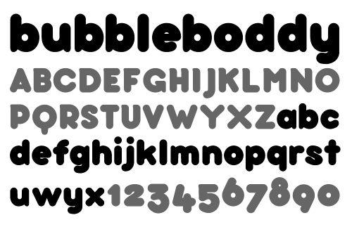 18 70s Bubble Fonts Images