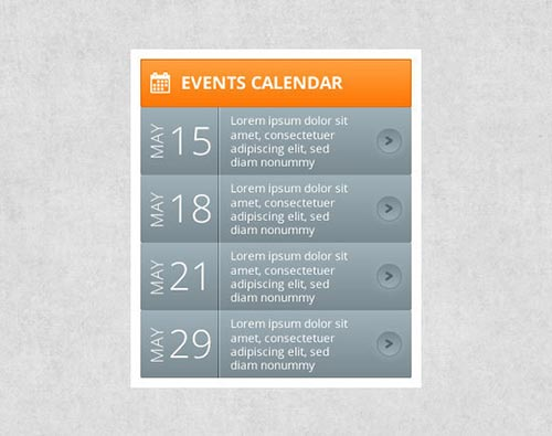 Free Calendar of Events Template