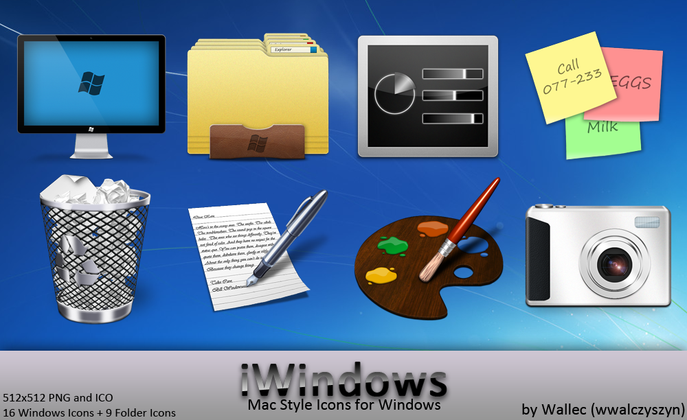 how to create an icon in windows 7