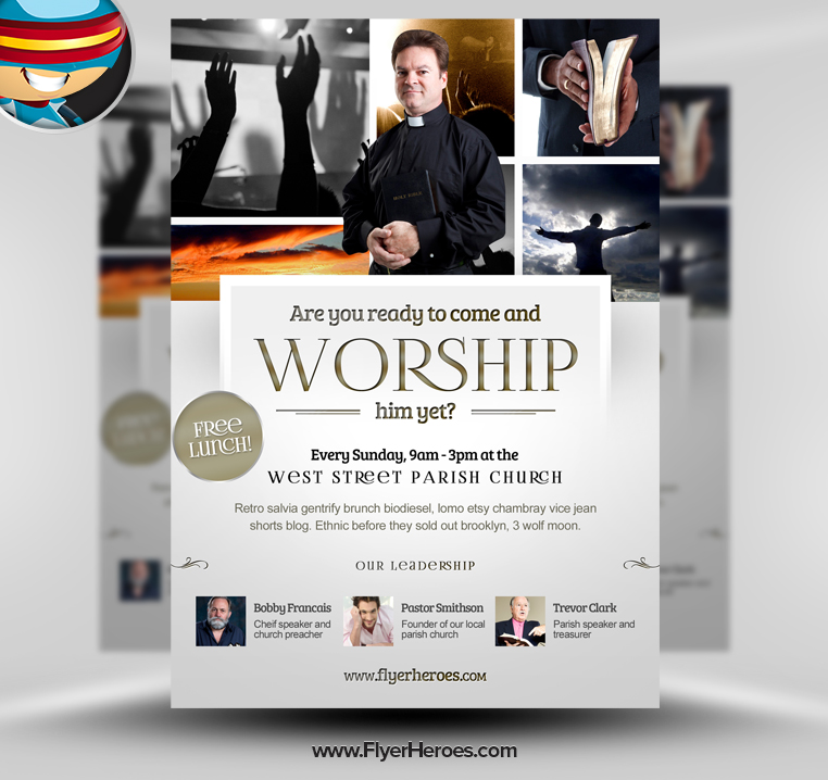 19 Free Church Flyer Template PSD Download Images