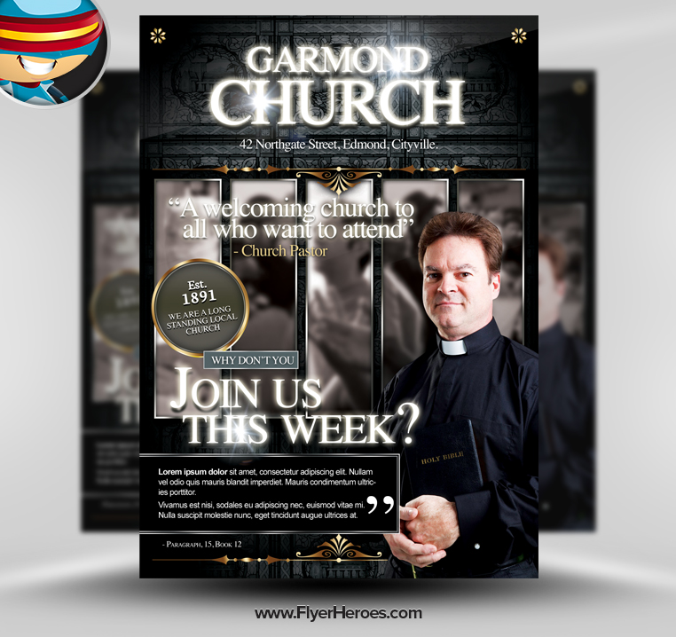 19 free church flyer template psd download images free