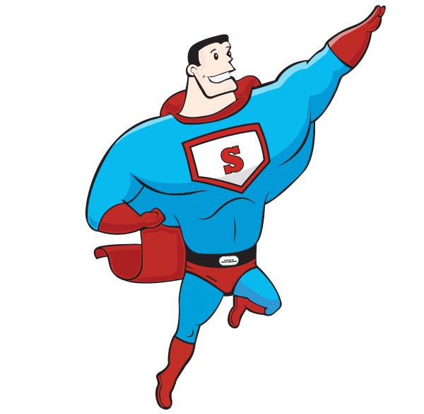 18 Super Hero Vector Images
