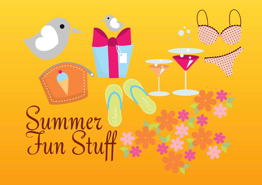 Free Vector Art Summer Fun