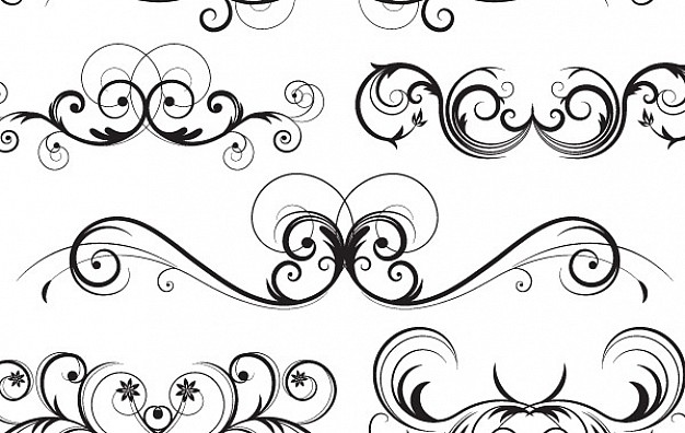 Free Vector Ornate Swirls