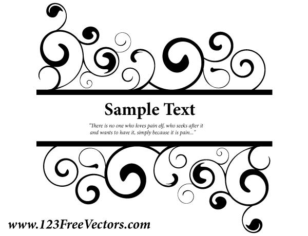 Free Vector Swirls Banner
