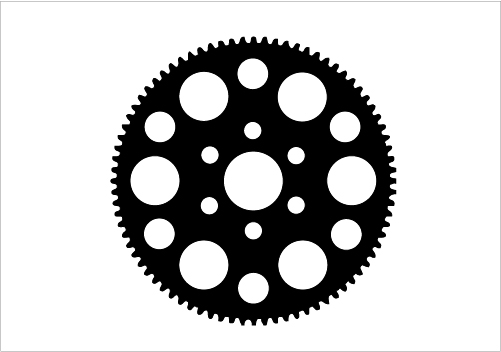 Gear Silhouette Vector