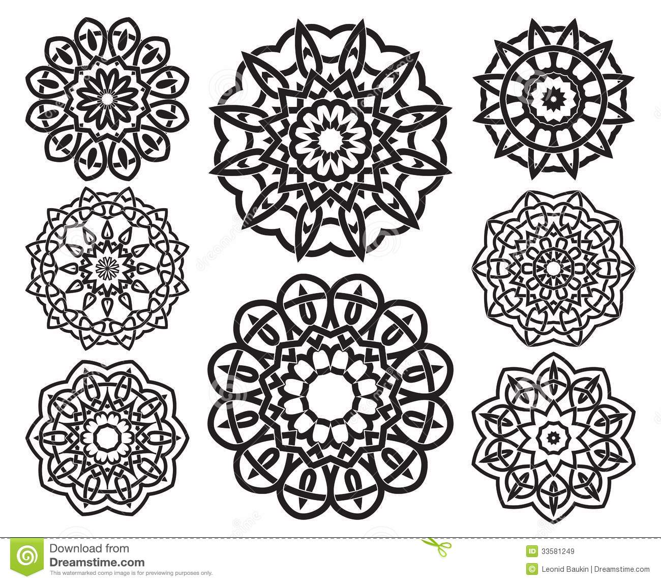 13 Round Geometric Designs Images Round Stained Glass