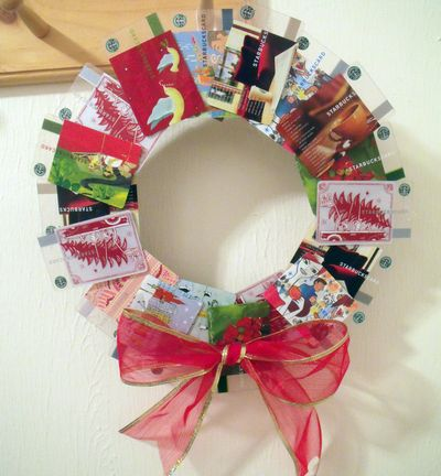 Gift Card Wreath