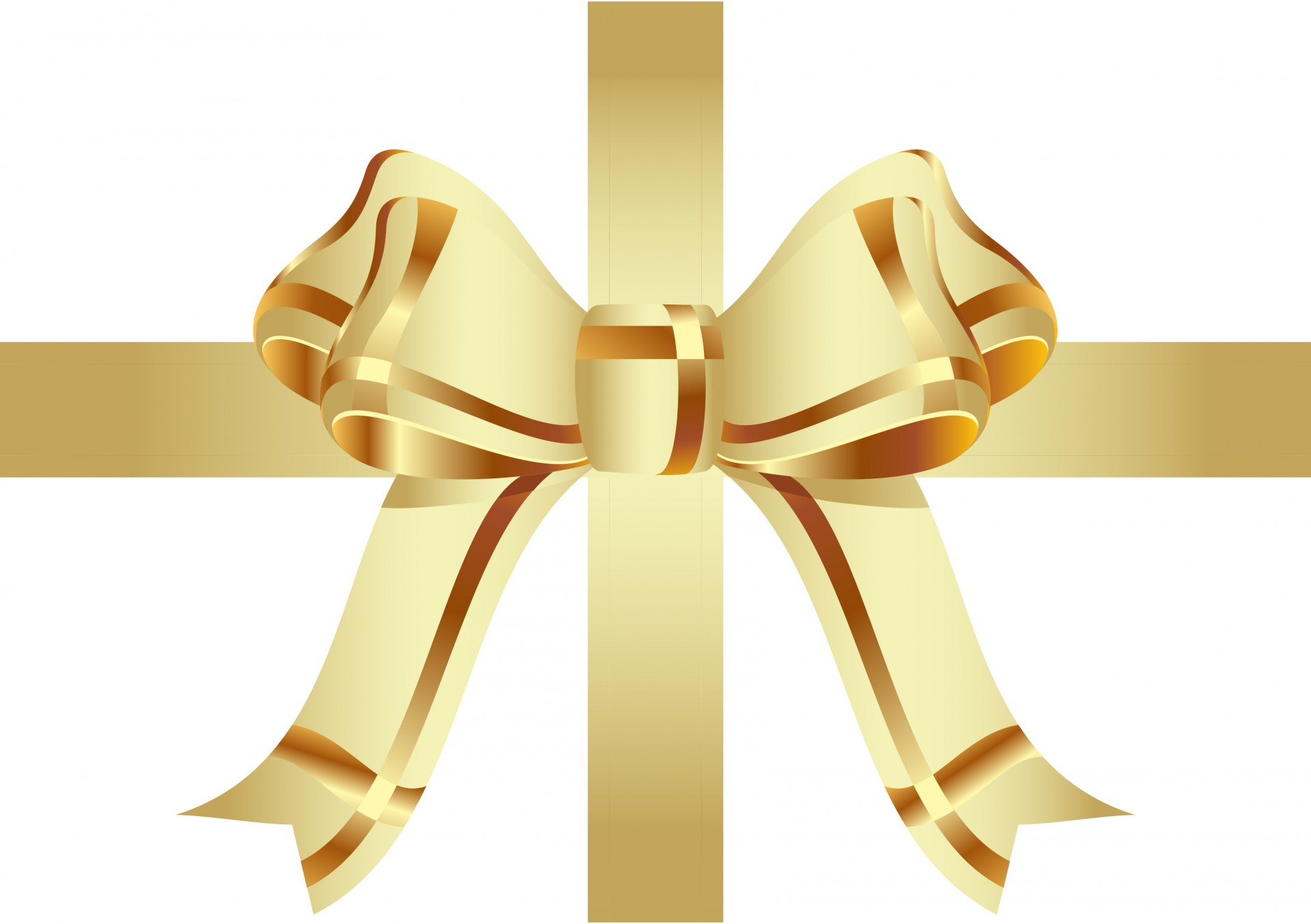 Gold ribbon vector clear background images stars