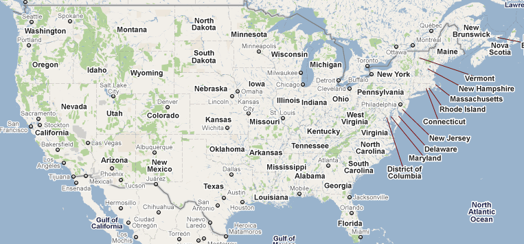 Google Map Usa Afp Cv - Google-us-map