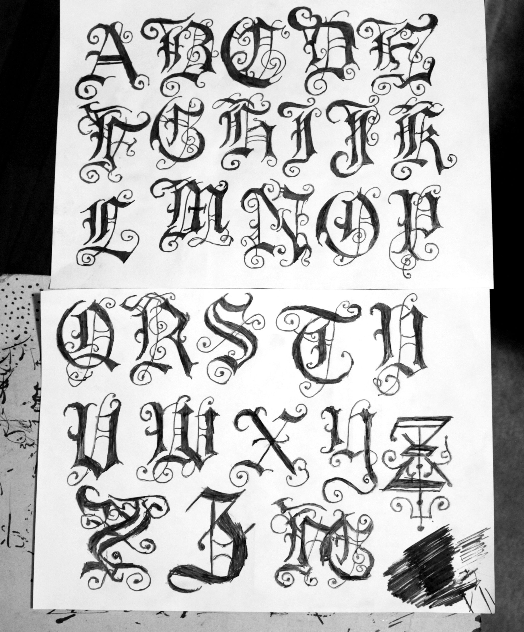 Gothic Calligraphy Font