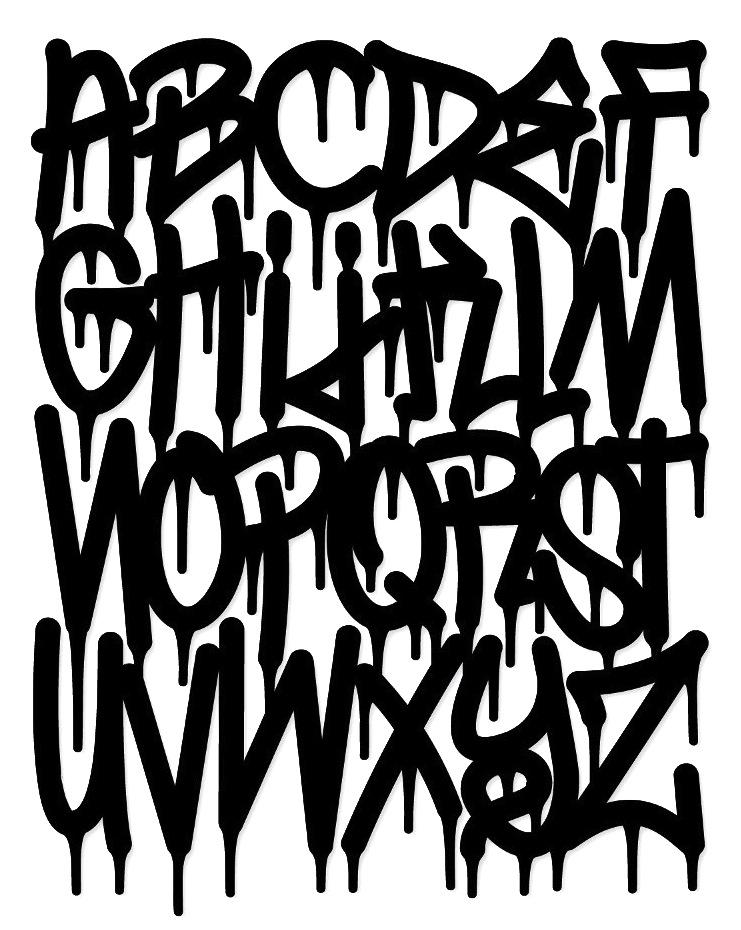 13 Graffiti Paint Drip Font Images