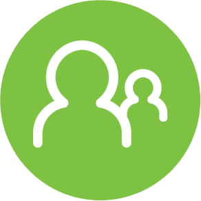 Green Person Working Icon