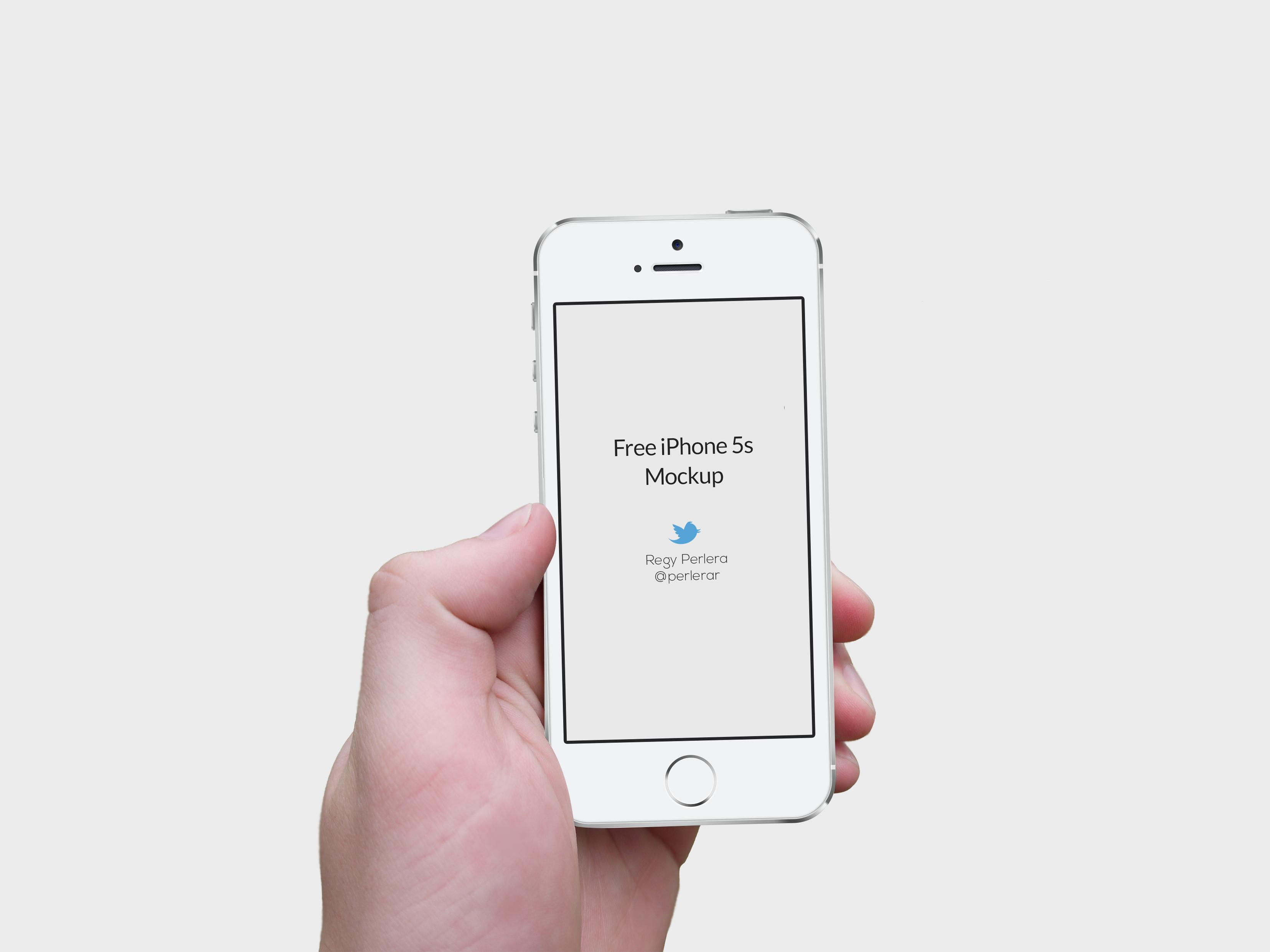 Hand Free iPhone Mockup PSD