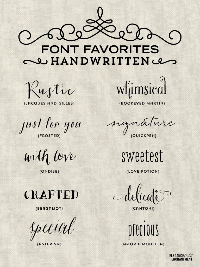 Handwritten Font Favorites