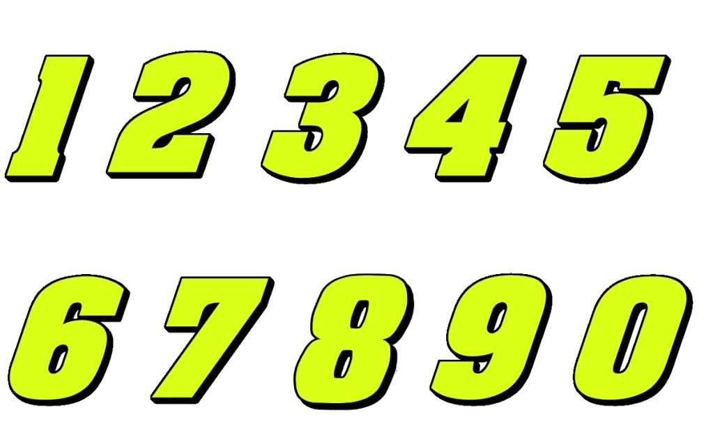 10 Motorsport Number Fonts Images - Race Car Number Fonts ...