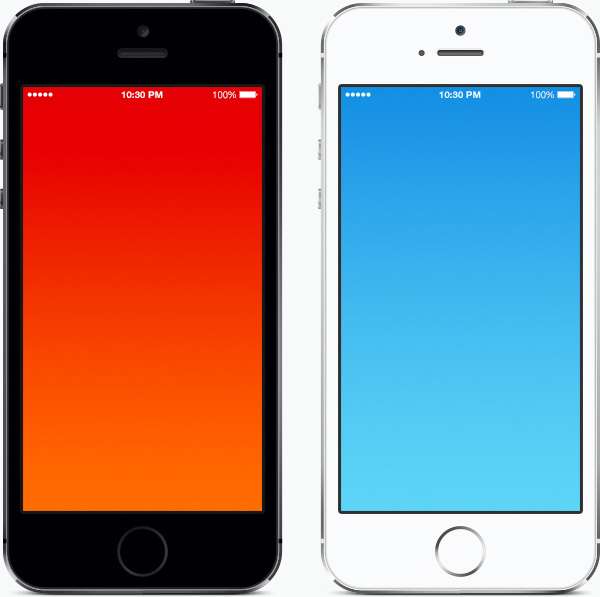 iPhone 5S Actual Size Template