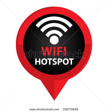 Logos Black and White Wi-Fi Icons