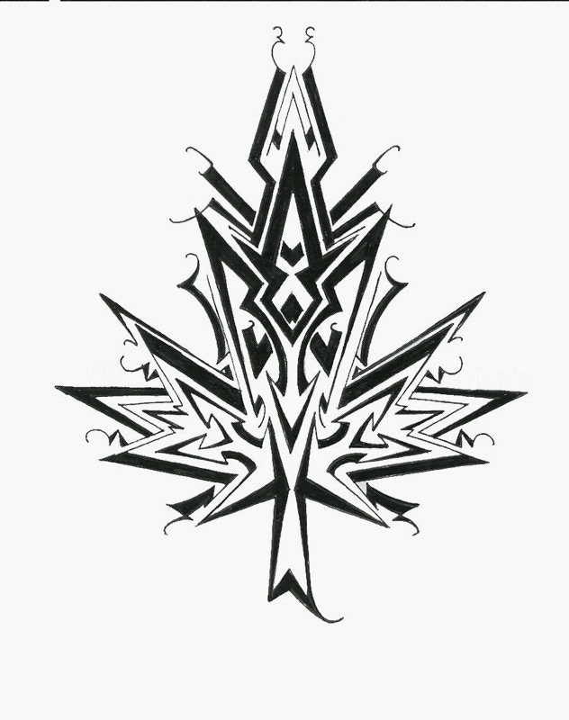 Maple Leaf Tribal Designs