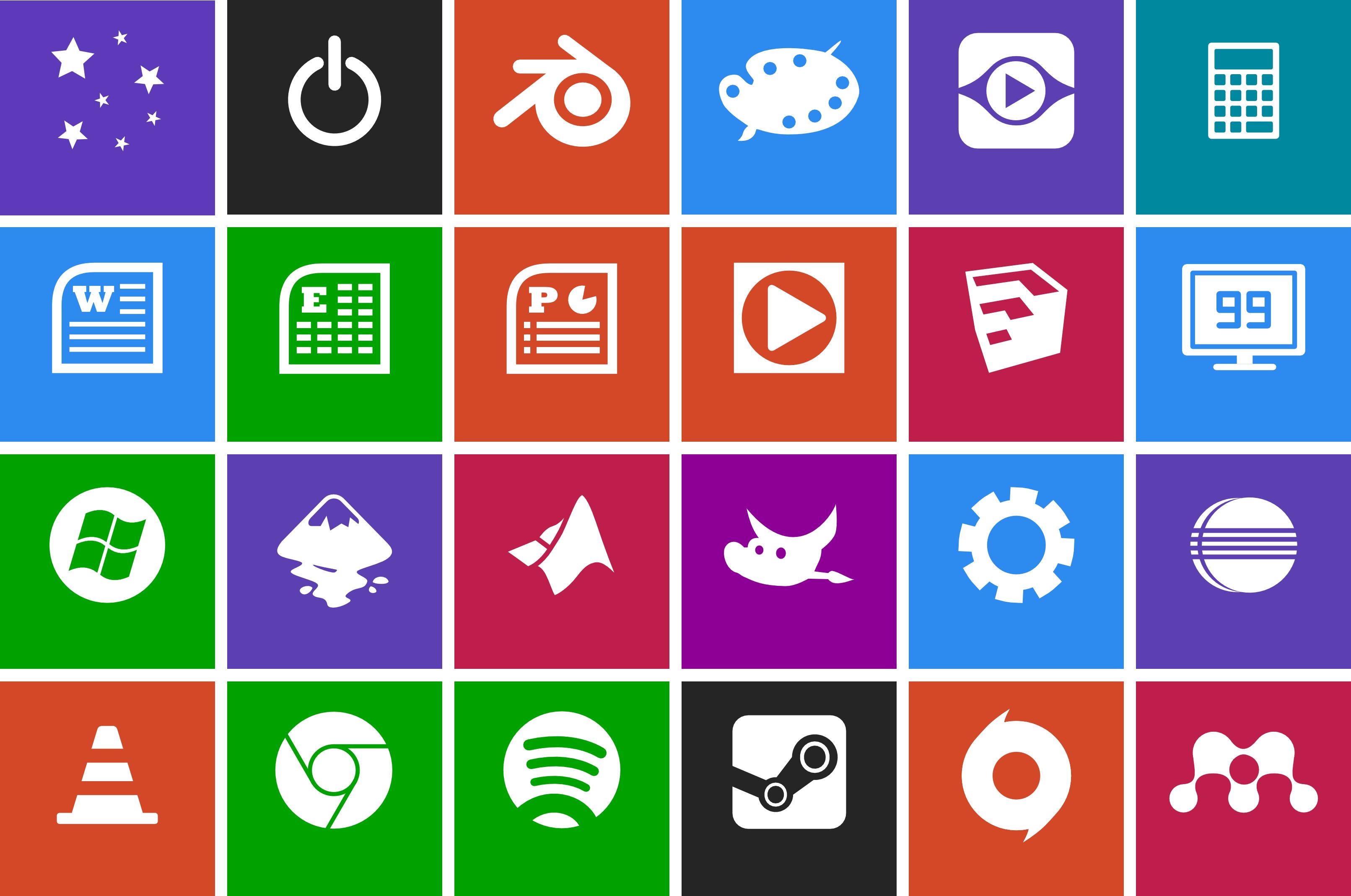 12 Windows Metro Style Icons Images