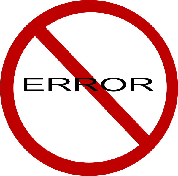 No Errors Clip Art