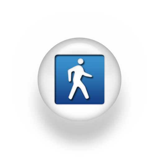 12 Blue Walking Icon Images - Person Walking Icon, Walking ...