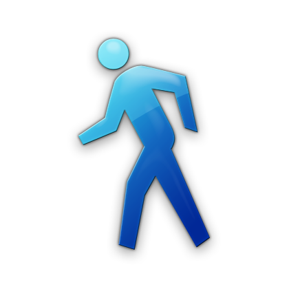 12 Blue Walking Icon Images