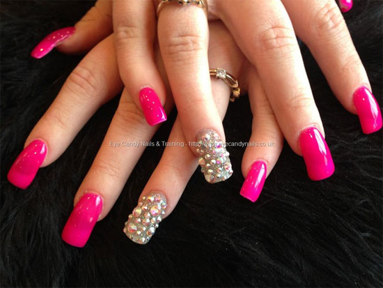 Pink Acrylic Nail Designs Ideas