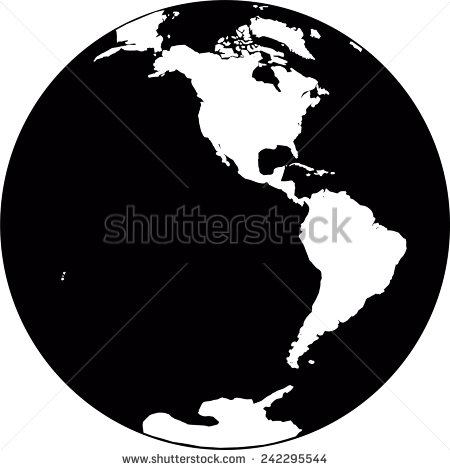 Planet Earth Clip Art Black and White