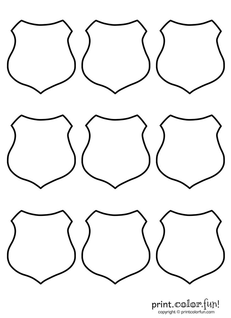 9 Police Badge Template Images