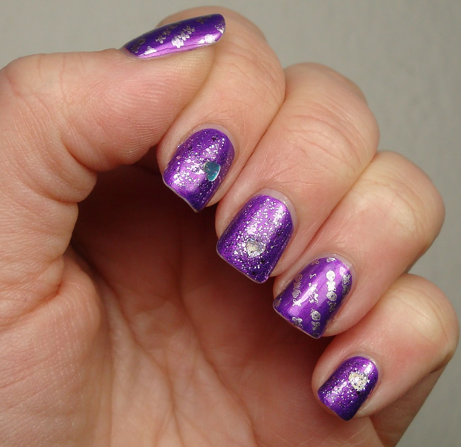 Purple Acrylic Nail Designs