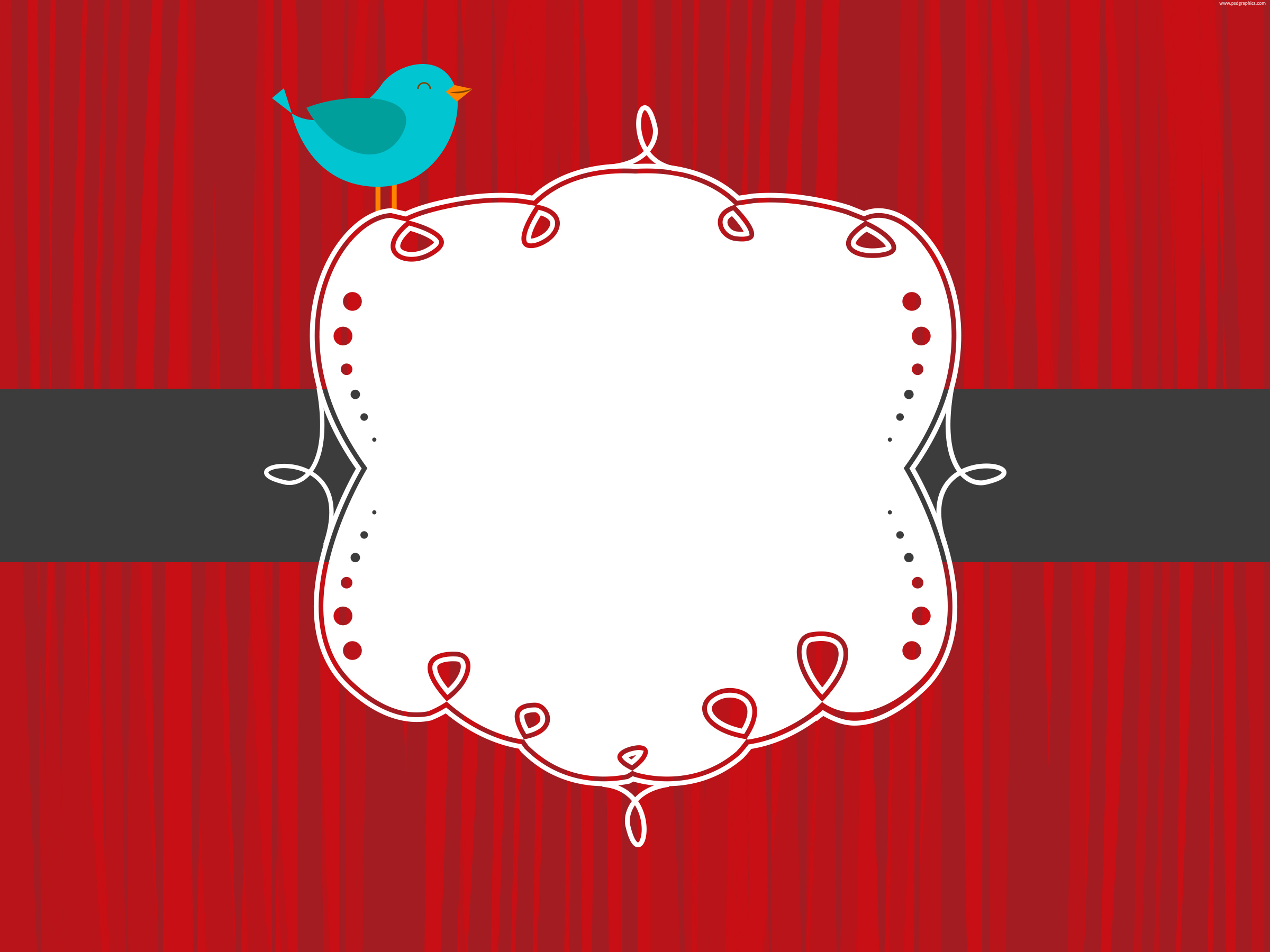 13 Blank PSD Banner Templates Images - Red Ribbon Banner