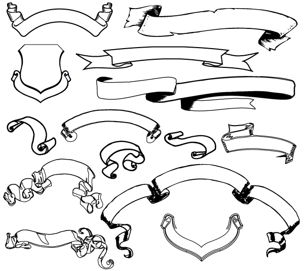 Ribbon Banner Vector Art