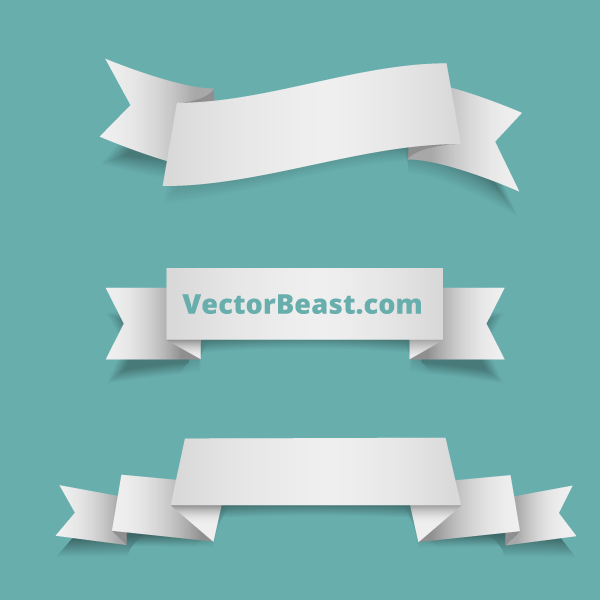 17 Ribbon Banner Vector Free Download Images
