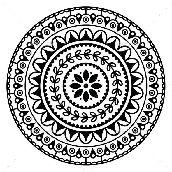 Round Geometric Design Patterns