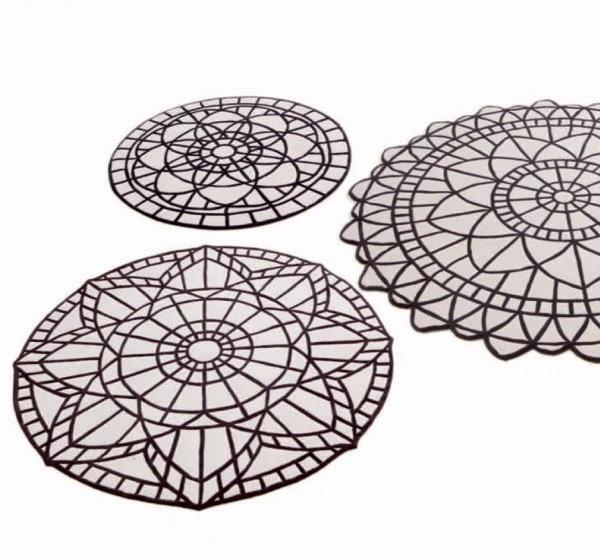 Round Geometric Pattern Rugs