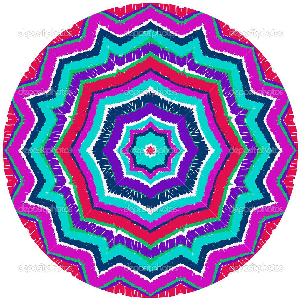 Round Geometric Patterns Vector