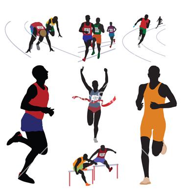 17 Runner Vector Black Images