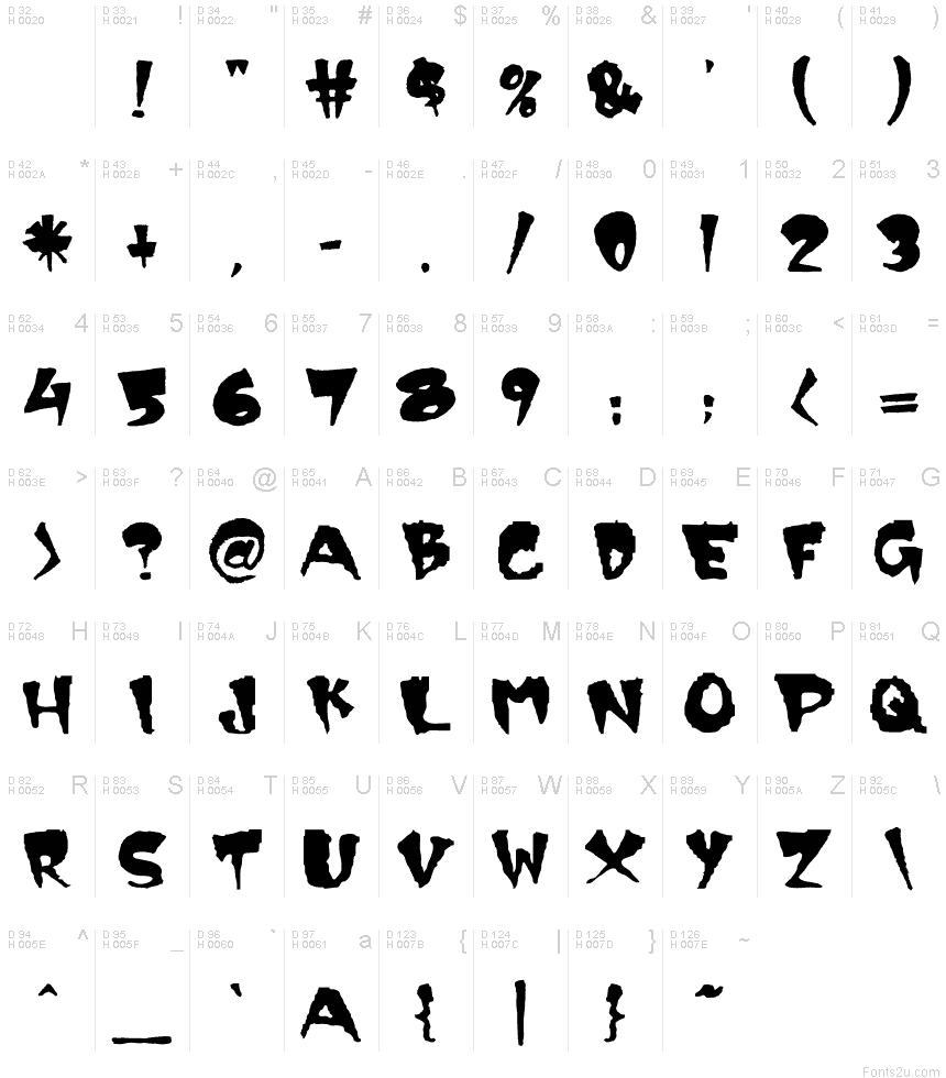 9 Creepy Fonts 2 Images