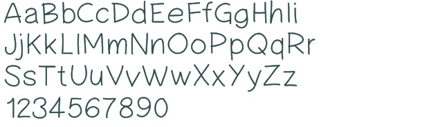 17 Simple Handwritten Fonts Images