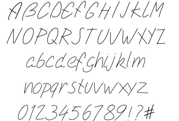 Easy Cursive Fonts Alphabet - Photos Alphabet Collections