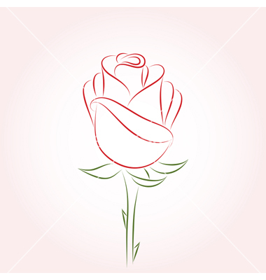 Single Long Stem Rose Clip Art
