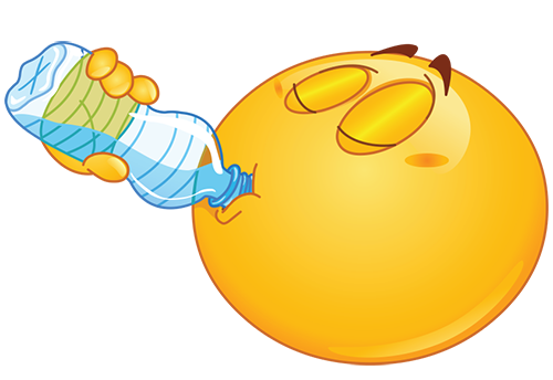Smiley Drinking Water