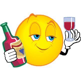 Smiley Emoticon Drinking Wine