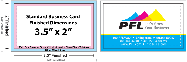 Standard Business Card Size Template
