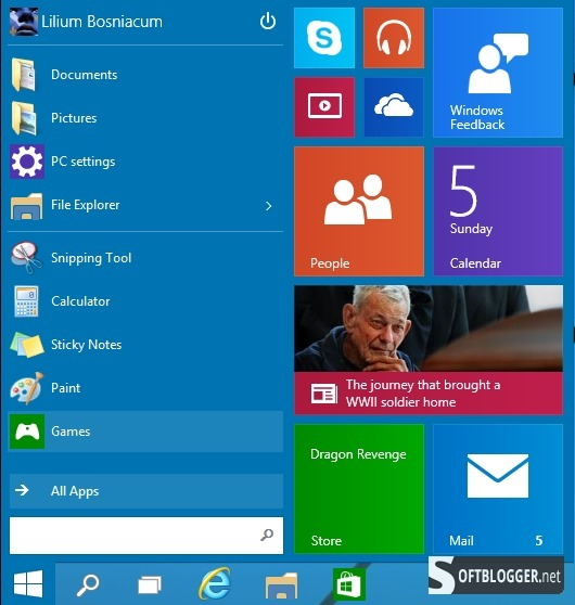 Start Button Windows 1.0