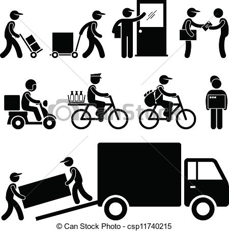 11 Service Delivery Man Icon Images