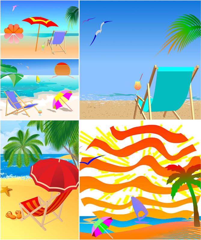 Summer Beach Background Clip Art Free